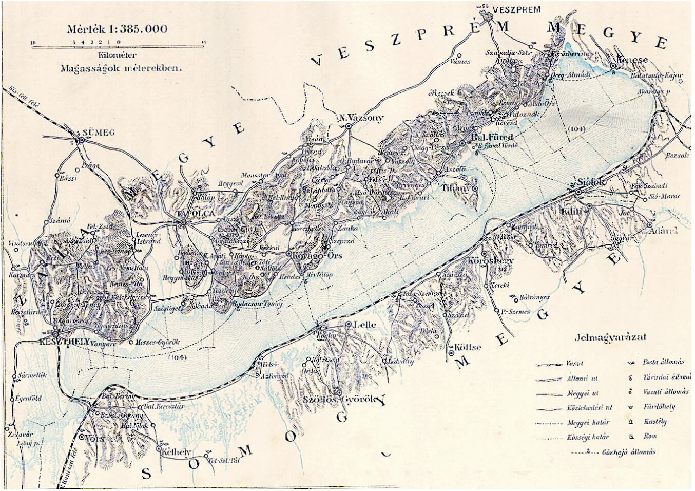 Lake Balaton map