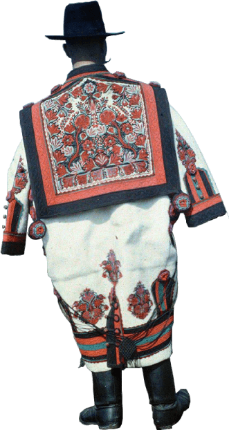 Hungarian peasant with embroidered cape