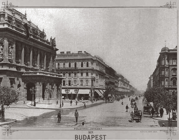 Andrássy Avenue by the Opera around 1890