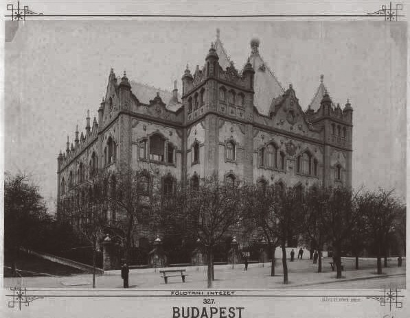 Hungarian State Geological Institute around 1899