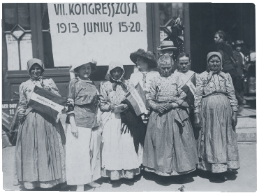 Peasant women delegates at International Women's Congress in 1913