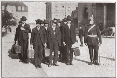 Rural Hungarian peasants enlisting for World War I