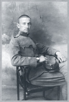 A Hungarian soldier in uniform before entering World War I