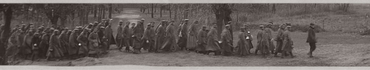 Austro-Hungarian soldiers marching in loose formation