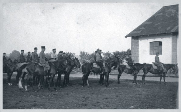 Austro-Hungarian cavalry soldiers on horseback