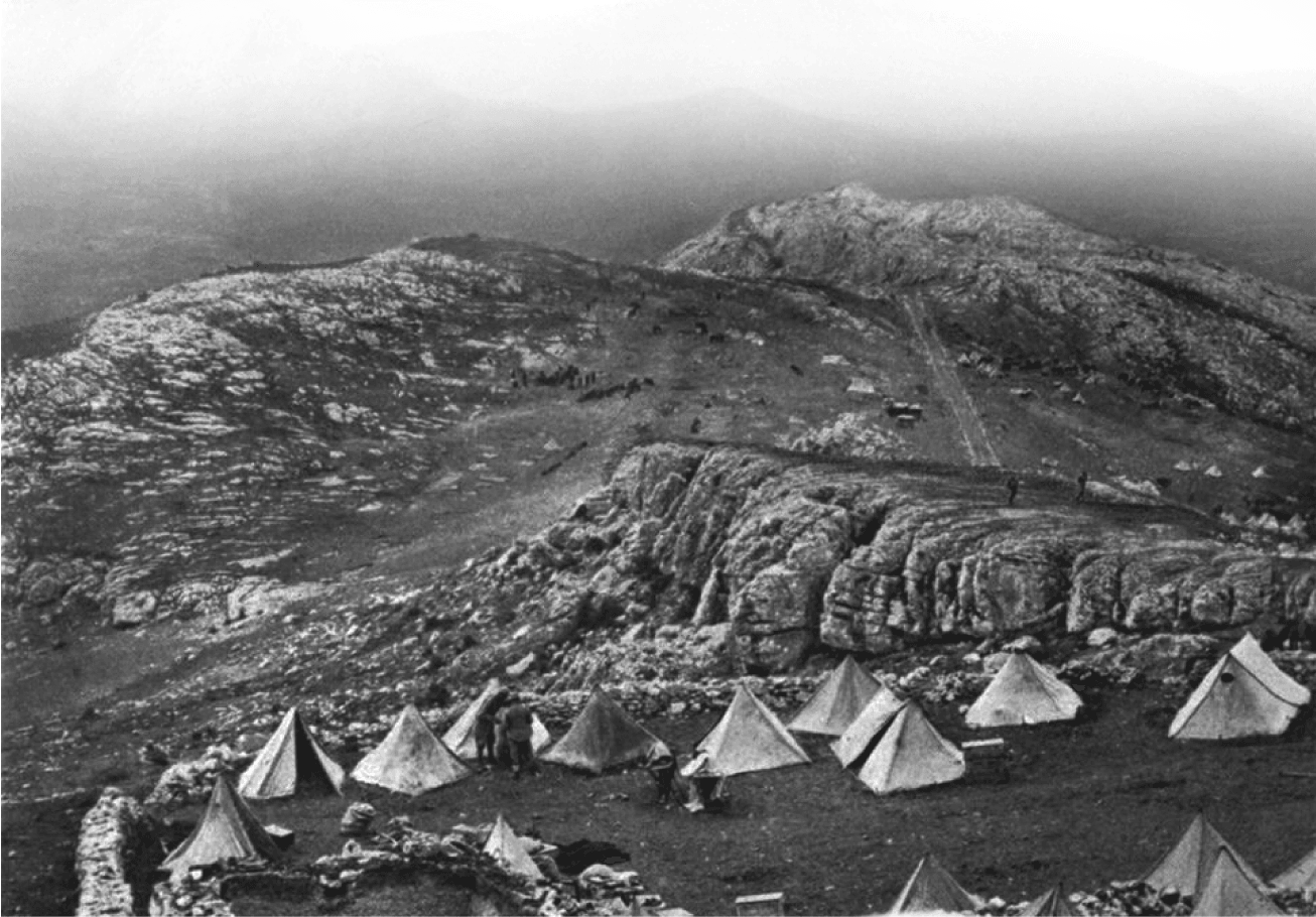 Austro-Hungarian camp in the mountains