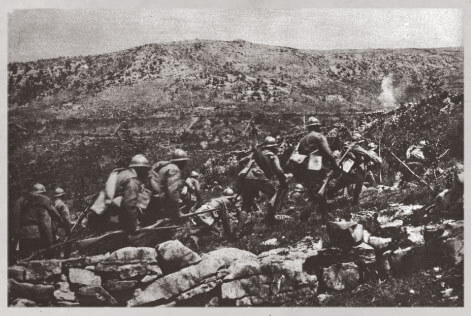 Italian infantry attacking