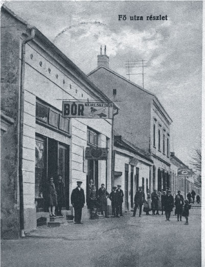 Marcali bar in downtown Marcali Hungary in 1928