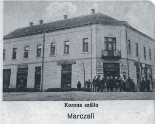 Korona Hotel in downtown town Marcali Hungary 1928