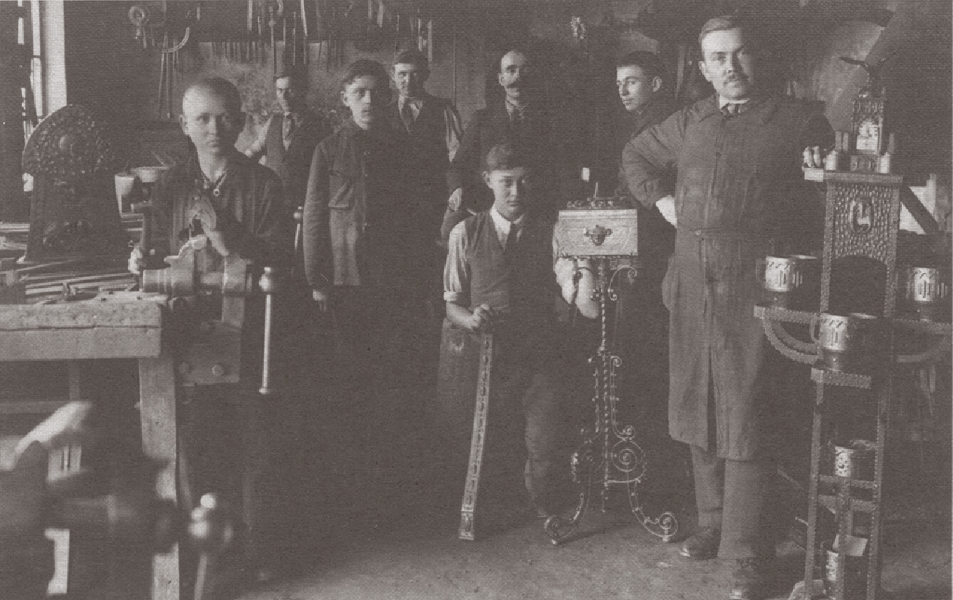 Workers in a workshop