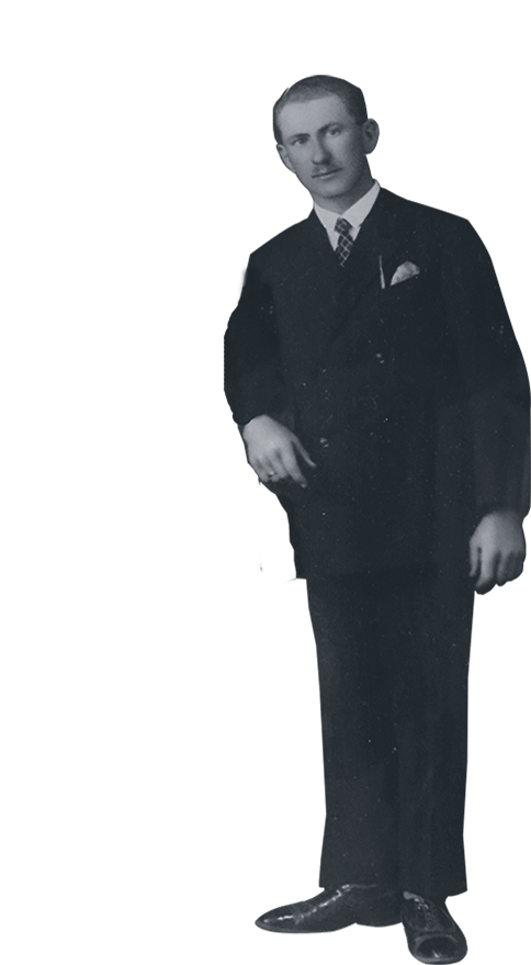 Pista Fábos on his wedding day in 1926
