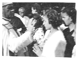 Bishop anointing Ari in Marcali Hungary in 1940