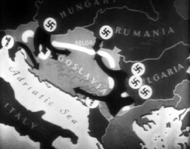 Graphic animation depicting Germany's invasion of Yugoslavia in 1941