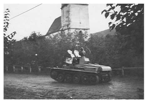 German tank passing through Marcali