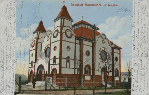 Synagogue in Marcali Hungary in 1916
