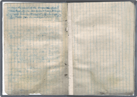 Page from Miklós Radnóti's notebook in 1944