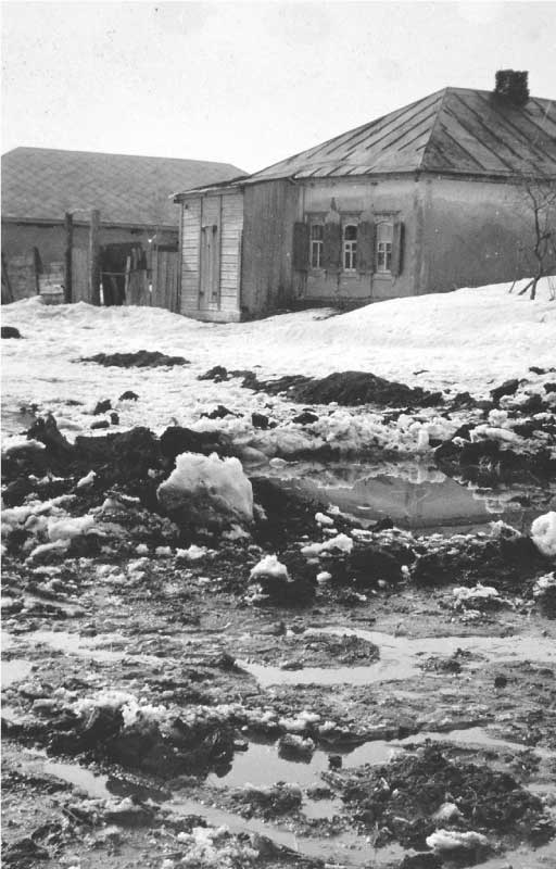 House in winter on the Eastern front during World War II
