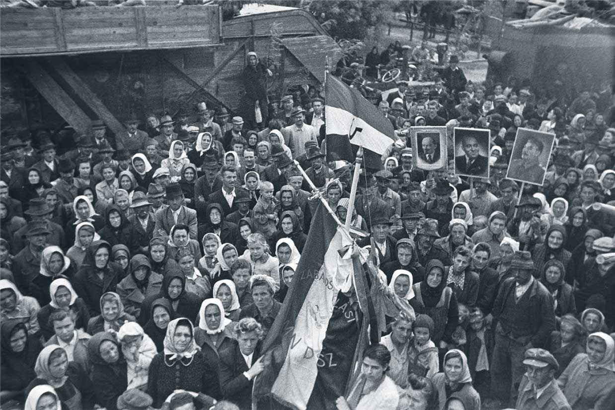 Political rally in 1945