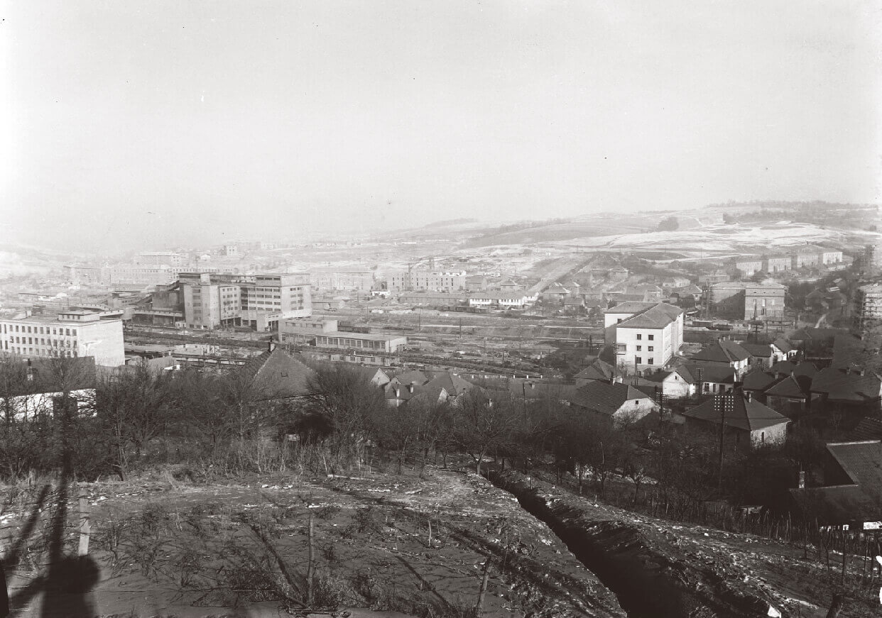 Bleak view overlooking Komló Hungary in 1953