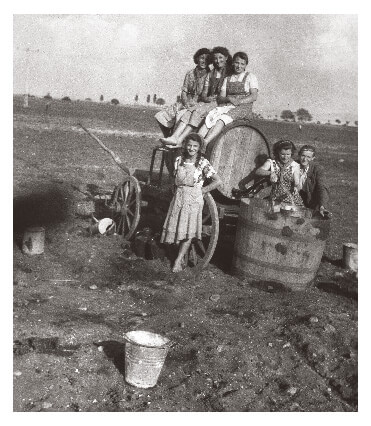 Women agricultural workers in Hungary in 1953