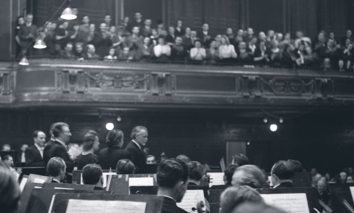 Zoltán Kodály in the Academy of Music's Great Hall