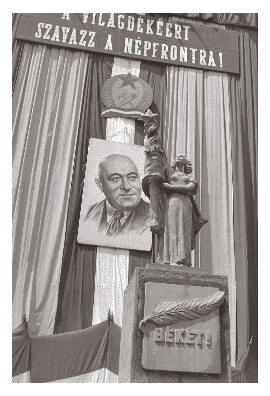 Mátyás Rákosi tribute in 1954