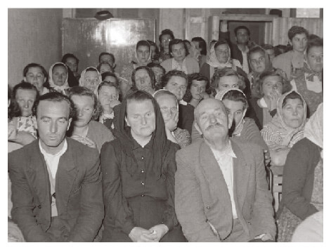 Hungarian peasants on trial in 1956
