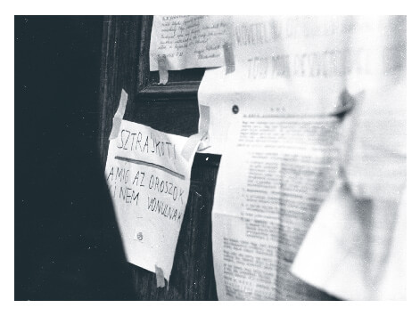Fliers posted during the 1956 Hungarian revolution