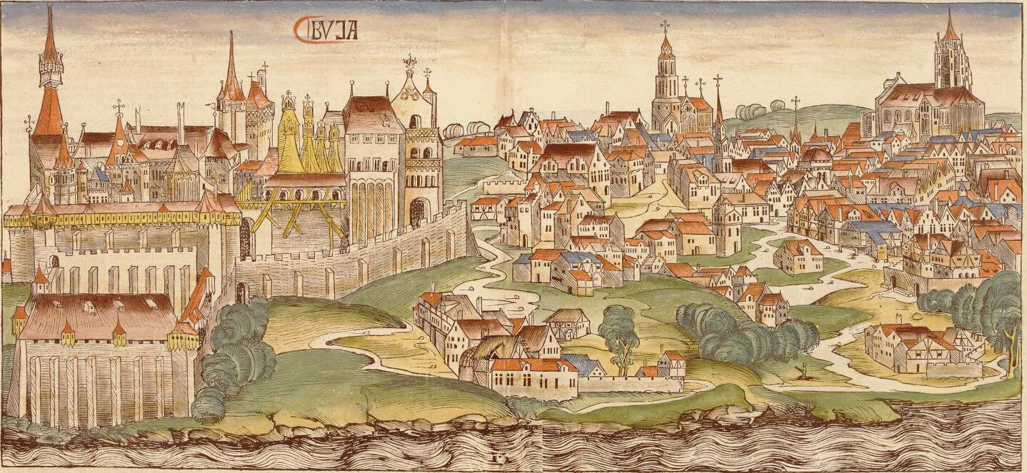 The Hungarian town of Buda in 1493