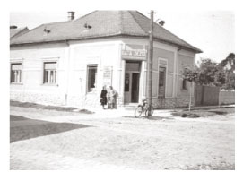 Corner store in Marcali Hungary in 1940s